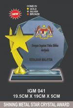 IGM 041 CRYSTAL PLAQUE