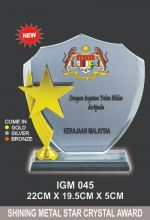 IGM 045 CRYSTAL PLAQUE