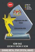 IGM 042 CRYSTAL PLAQUE