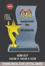 IGM 037 CRYSTAL PLAQUE
