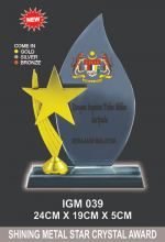 IGM 039 CRYSTAL PLAQUE