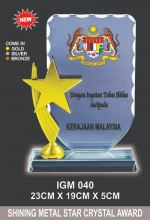 IGM 040 CRYSTAL PLAQUE