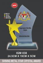 IGM 038 CRYSTAL PLAQUE