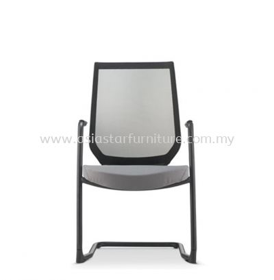 ZENITH VISITOR MESH BACK CHAIR C/W EPOXY BLACK CANTILEVER BASE (FABRIC) AZN 8213N