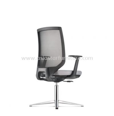 ZENITH VISITOR MESH BACK CHAIR C/W 4 PRONGED ALUMINIUM BASE (FABRIC) AZN 8214N