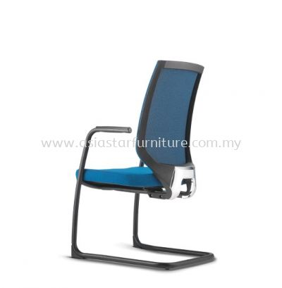 ZENITH VISITOR SOFTECH BACK CHAIR C/W EPOXY BLACK CANTILEVER BASE AZN 8213F