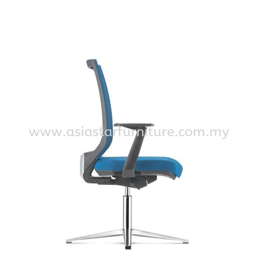 ZENITH VISITOR SOFTECH BACK CHAIR C/W 4 PRONGED ALUMINIUM BASE AZN 8214F