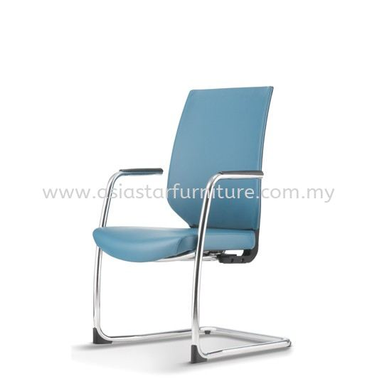 ZENITH VISITOR PU BACK CHAIR C/W CHROME CANTILEVER BASE AZN 8213P