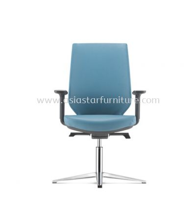 ZENITH VISITOR PU BACK CHAIR C/W 4 PRONGED ALUMINIUM BASE AZN 8214P