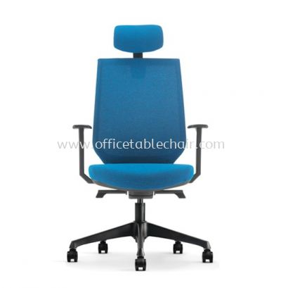 ZENITH HIGH BACK SOFTEC CHAIR C/W ROCKET NYLON BASE AZN 8210F