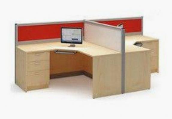 2 cluster workstation L shape