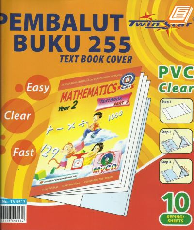 Twinstar -  PVC Clear Text Book Cover - (TS 4513)
