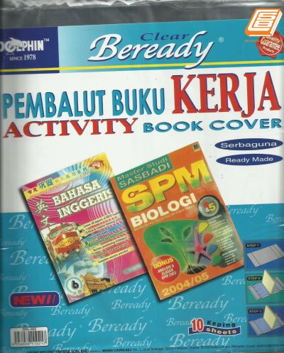 DOL -  Clear Activity Book Cover - (Dol-022)