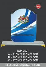 ICP 252 CRYSTAL PLAQUE