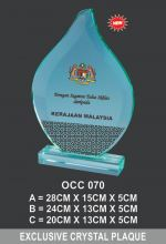 OCC 070 CRYSTAL PLAQUE