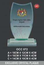 OCC 072 CRYSTAL PLAQUE