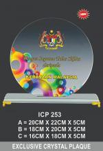 ICP 253 CRYSTAL PLAQUE