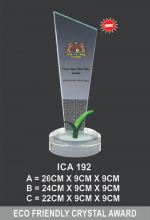 ICA 192 CRYSTAL PLAQUE