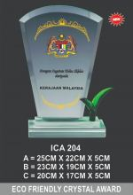 ICA 204 CRYSTAL PLAQUE