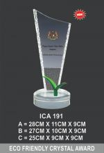 ICA 191 CRYSTAL PLAQUE