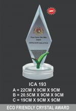 ICA 193 CRYSTAL PLAQUE