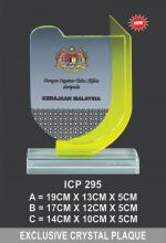 ICP 295 EXCLUSIVE CRYSTAL PLAQUE