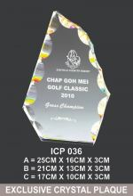 ICP 036 EXCLUSIVE CRYSTAL PLAQUE