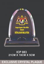 ICP 083 EXCLUSIVE CRYSTAL PLAQUE