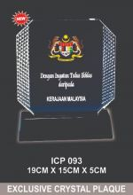 ICP 093 EXCLUSIVE CRYSTAL PLAQUE