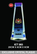 ICT 083 EXCLUSIVE CRYSTAL PLAQUE