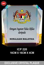 ICP 220 EXCLUSIVE CRYSTAL PLAQUE