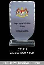 ICT 119 EXCLUSIVE CRYSTAL PLAQUE