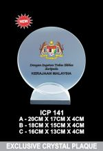ICP 141 EXCLUSIVE CRYSTAL PLAQUE