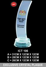 ICT 106 EXCLUSIVE CRYSTAL PLAQUE