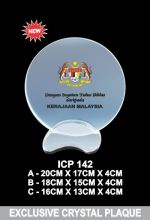 ICP 142 EXCLUSIVE CRYSTAL PLAQUE