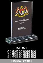 ICP 091 EXCLUSIVE CRYSTAL PLAQUE
