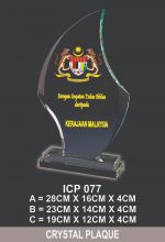 ICP 077 EXCLUSIVE CRYSTAL PLAQUE