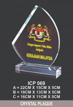ICP 069 EXCLUSIVE CRYSTAL PLAQUE