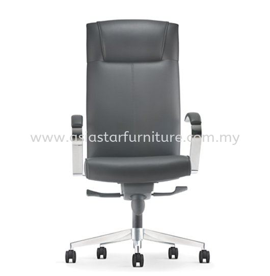 CICO DIRECTOR HIGH BACK LEATHER CHAIR C/W ALUMINIUM DIE-CAST BASE