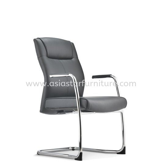 CICO DIRECTOR VISITOR LEATHER CHAIR C/W CHROME CANTILEVER BASE