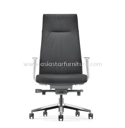 PREMIUM PRESIDENTIAL HIGH BACK WITH ALUMINIUM HIGH BASE AND ALIMINIUM POLISHED ARMREST ASEPM 6310L-18S