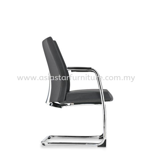 PREMIUM DIRECTOR VISITOR LEATHERP OFFICE CHAIR WITH CHROME CANTILEVER BASE- director office chair pj seksyen 16   director office chair pj seksyen 17   director office chair gombak