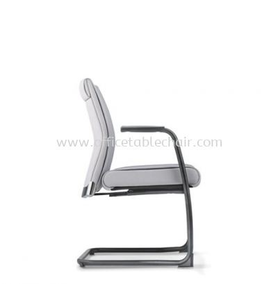 PEGASO EXECUTIVE VISITOR CHAIR C/W EPOXY BLACK CANTILEVER BASE PG-4F