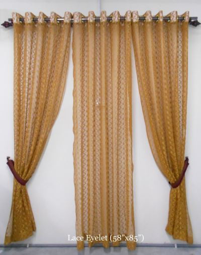 "1 SET CURTAIN LACE EYELET  (58""X85"") (3PCS)"