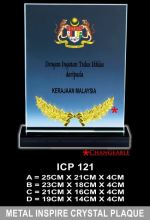 ICP 121 CRYSTAL PLAQUE