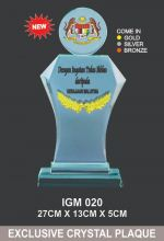 IGM 020 CRYSTAL PLAQUE