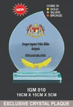IGM 010 CRYSTAL PLAQUE