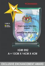 IGM 092 CRYSTAL PLAQUE