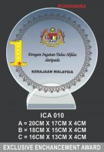 ICA 010 CRYSTAL PLAQUE
