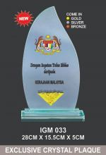 IGM 033 CRYSTAL PLAQUE
